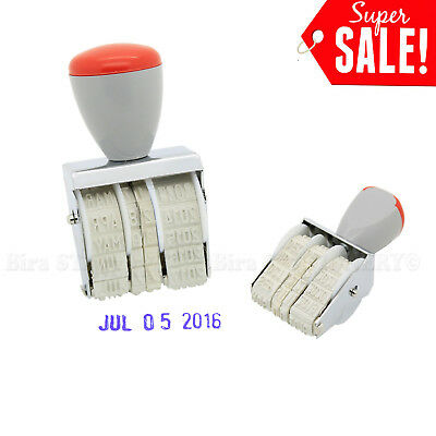 2.1cm MM-DD-YY Rubber Manual Set Date Stamp for Business Office School 2016-2027 Date Postage Stamps