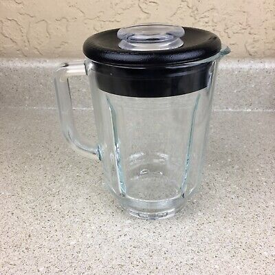 Kitchenaid Replacement Blender Pitcher Jar Glass W/ Lid Round WPW1022178 KSB755