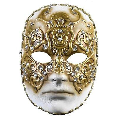 Adult William Hartford Eyes Wide Shut Venetian Gold Mens Halloween Costume Mask - Costume Eyes