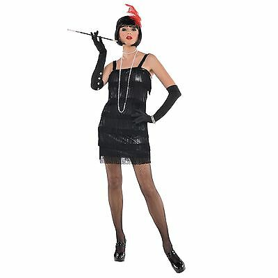 Neu Damen Erwachsene Fransen Flapper Jazz 20s 30s Kostüm Kostüm Chicago - Damen Jazz Kostüm