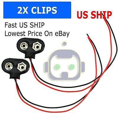 10Pcs 9V Battery Snap Holder Clip Connector Hard Shell 10CM Cable Le IE