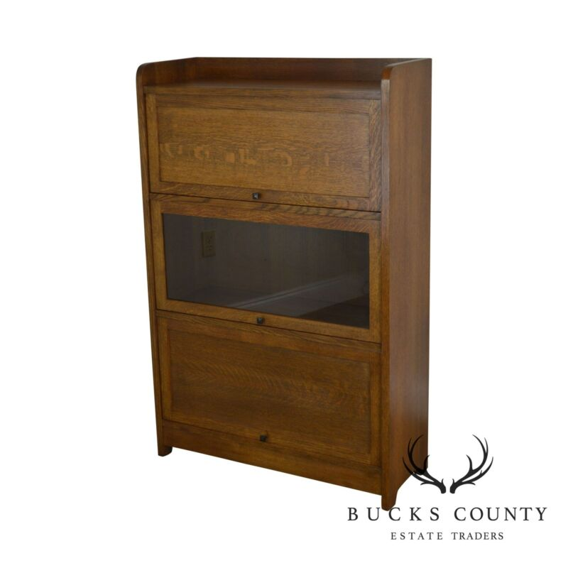 Stickley Mission Collection Oak Barrister Bookcase