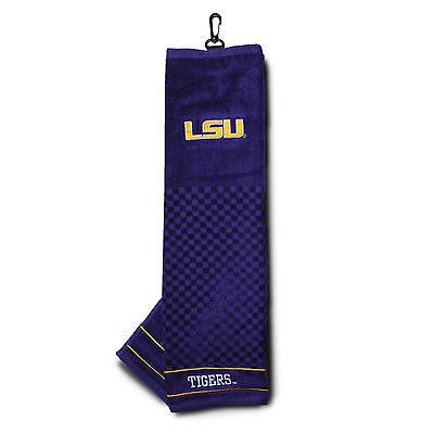 - NCAA LSU Tigers Golf Towel Embroidered Tri-Fold 16