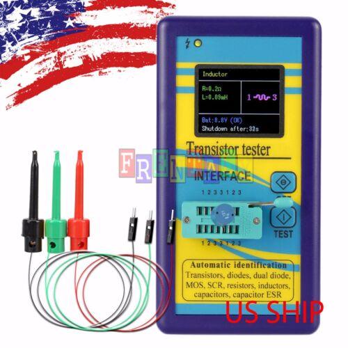 """B2 Color 1.8"""" TFT ESR Transistor Resistor Diode Capacitor Mosfet Tester w/ hook"""