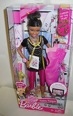 #2854 NRFB 2012 Career of the Year I Can Be... Fashion Designer Afr Amer Barbie