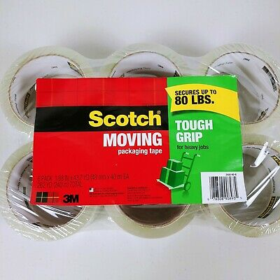 Scotch Packaging Tape 1.88 X 43.7 Yards 6pk Clear 3500406