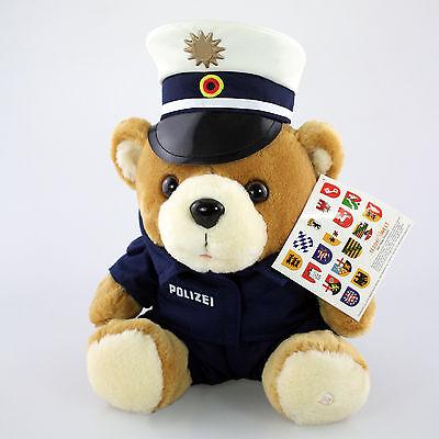 Polizei Teddy Bär Vario Blue Weiße Mütze