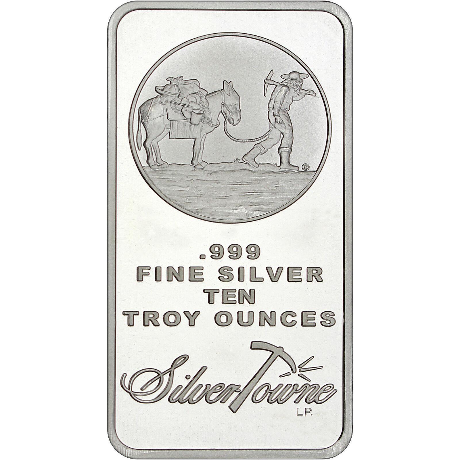 SilverTowne Logo 10oz .999 Fine Silver Bar