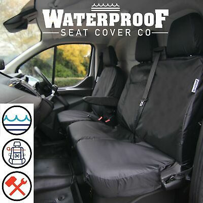 BLACK 1 x Front For Ford Transit Connect 2011 2012 2013 2014 2015 2016 2017 2018 2019 Single Heavy Duty Driver Captain Passenger Van Car Seat Cover Protector Waterproof