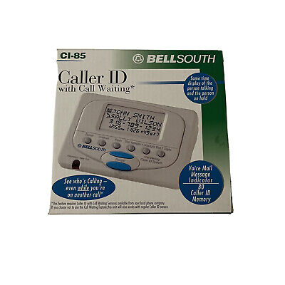 Bell South CI-85 Caller ID With Call Waiting 80 number memory
