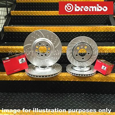 FOR AUDI S3 FRONT REAR PERFORMANCE DIMPLED GROOVED BRAKE DISCS BREMBO PADS KIT