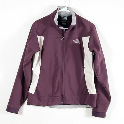 North Face Apex Sherpa Lined Full Zip Soft Shell Jacket Plum Women's Size M