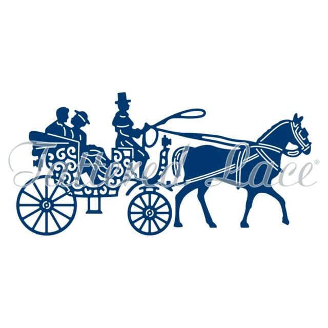 TATTERED LACE HORSE & CARRIAGE CUTTING DIE D883