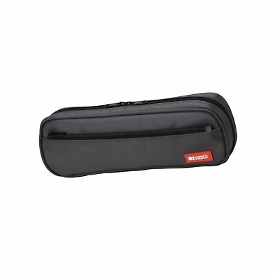 LIHIT LAB Pen Case, 9.4 x 1.8 x 3 inches, Black