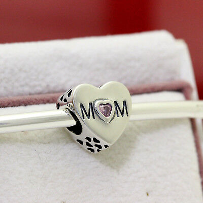 Authentic Pandora Mother Heart 791881PCZ Pink Cz MoM Love Mothers Day Sale Mom Pink Heart