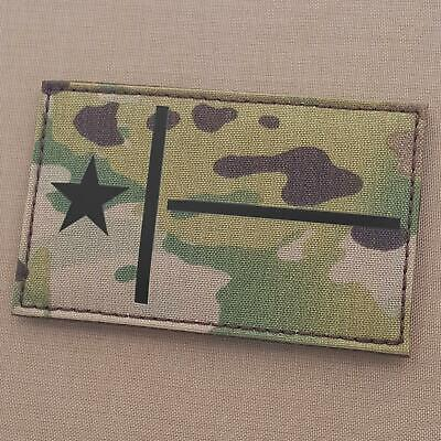 Jumbo IR Texas Lone Star multicam plate carrier chest patch
