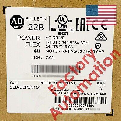 20182019 Us Stock Allen-bradley Powerflex 40- 2.2 Kw 3 Hp Ac Drive 22b-d6p0n104
