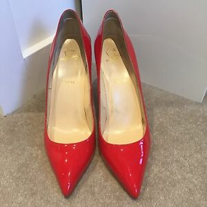 Red 100% Authentic Christian Louboutin Patent Heels Size 40.5 Kew Boroondara Area Preview
