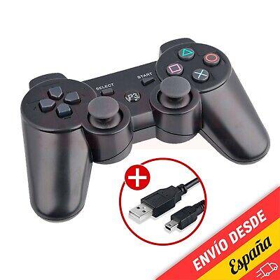 Mando para PS3 inalámbrico con vibración y cable - Gamepad PS 3...