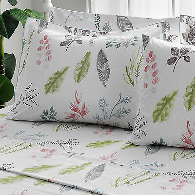 Brielle 100% Cotton Percale Gardenia Bed Linen Collection - Cotton Percale Bed Linen