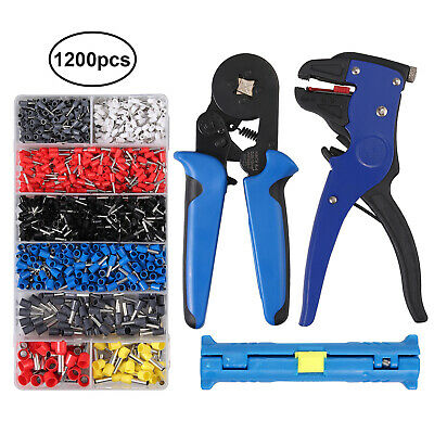 6-4 Ferrule Crimping Plier Tool Set2wire Stripper1200terminal Wire Connector