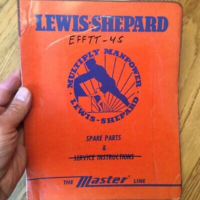 Lewis-shepard Efftt-4s Parts Manual Book Catalog List Electric Fork Lift Truck