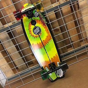 New Santa Cruz Land Shark Cruzer Rasta Tie Dye Complete Skateboard - 8.8 x 27.7