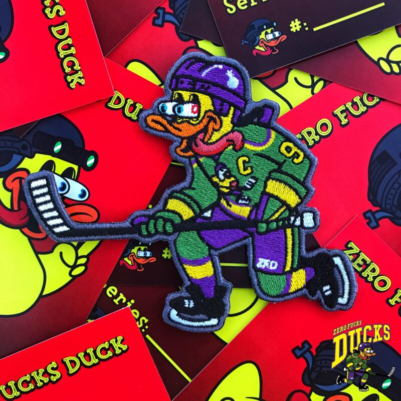 ZFD Duck Mighty Hockey Duck ZFD Morale Patch