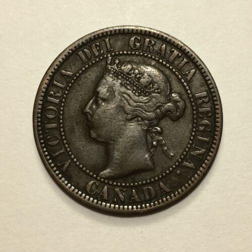 1900 Canada Cent Coin, Victoria, KM# 7, F+