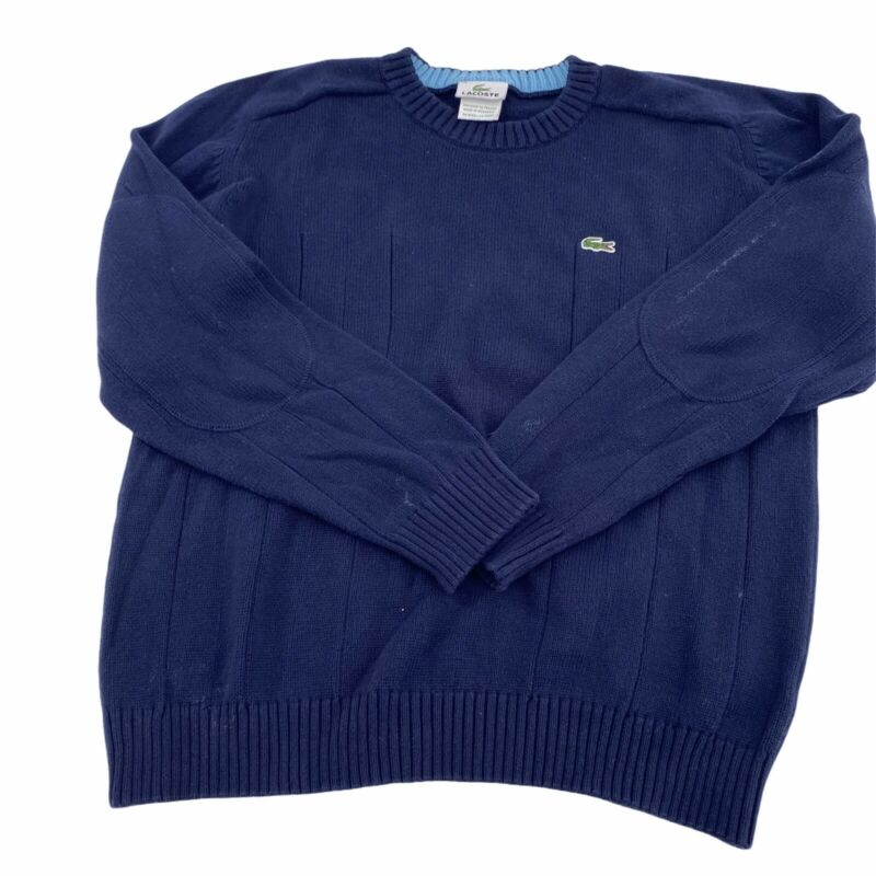 Lacoste Sweater Boys Size 14 Pullover Navy Crew Neck