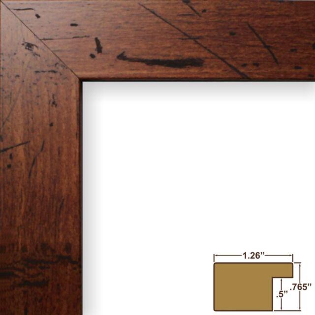 craig frames bauhaus 125 modern rustic dark walnut brown picture frame