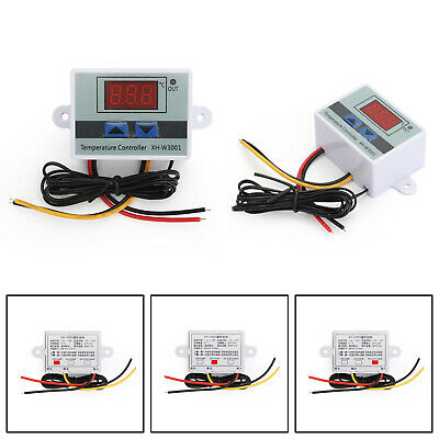 Dc 12v Digital Led Temperature Controller Thermostat Xh-w3001 Switch Probe