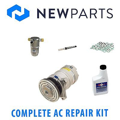 For Cadillac DeVille 1991-1993 NEW AC A/C Repair Kit w/ OEM Compressor & Clutch
