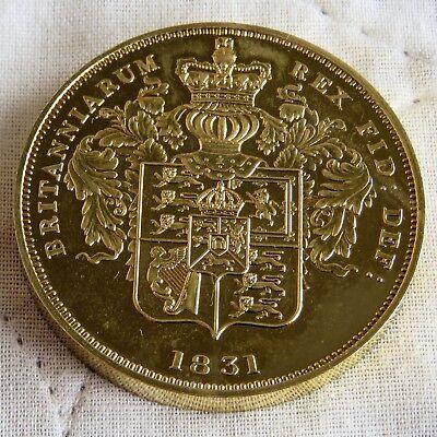 1831 WILLIAM IIII GOLD COATED COPPER PROOF PATTERN PIEDFORT CROWN