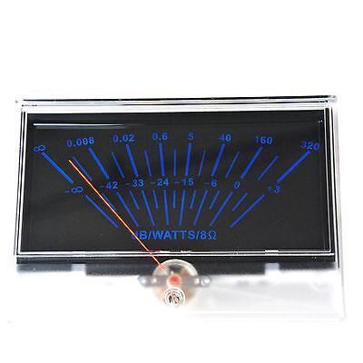 Vu Panel Meter Db Level Header Audio Power Amplifier Chassis Back Light