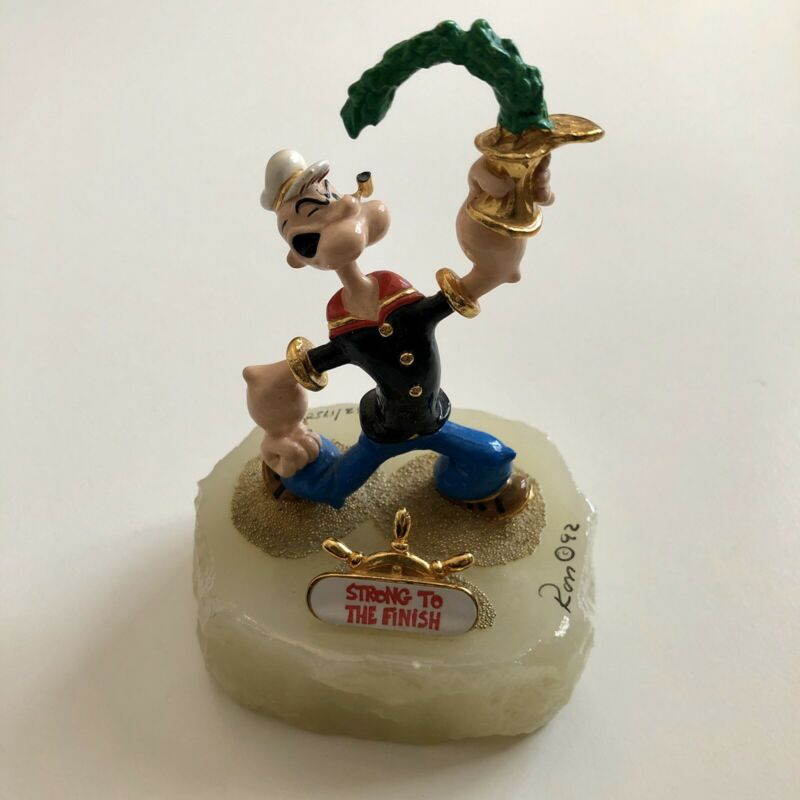 RON LEE POPEYE 'Strong To The Finish' Statue Signed LMT EDITION #1062/1750 MINT