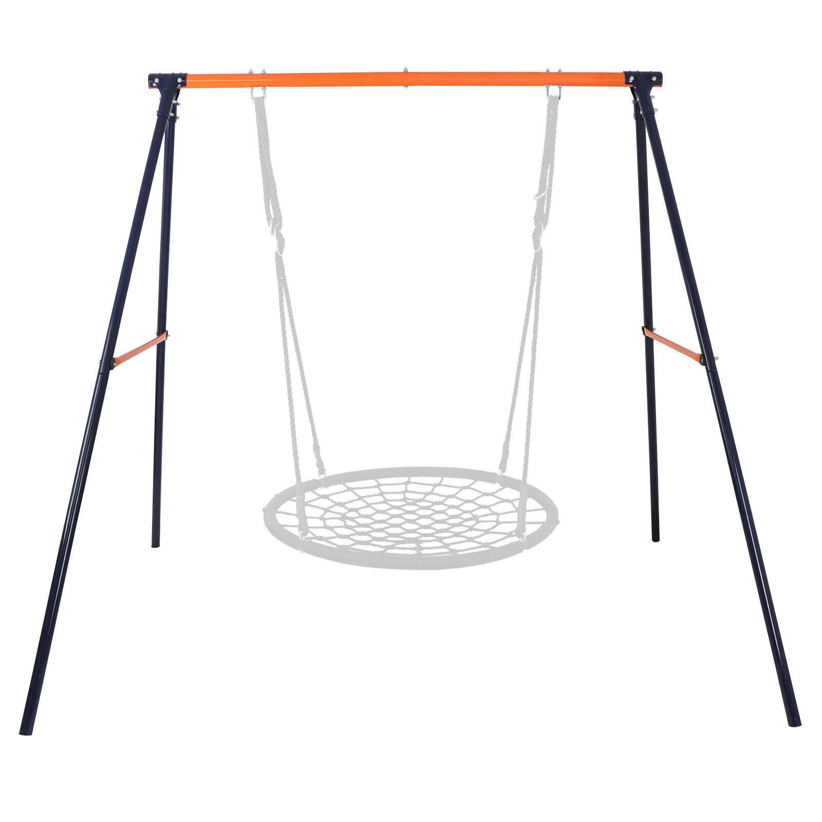 """A-Frame Swing Stand Yard Lawn Playground + 48"""" Spider Web Tree Swing Net Outdoor Toys & Structures"""