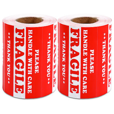 1000 Pieces 3 X 5 Handle With Care Fragile Label Sticker Self Adhesive Warning