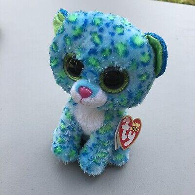 TY Beanie Baby Beanie Boo's Leona The Blue Leopard Plush Stuffed Animal