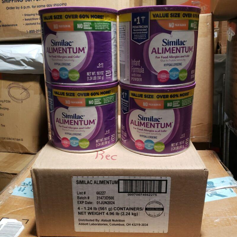 4 cans NEW 19.8oz Similac Alimentum Hypoallergenic Infant Formula Exp. 6/2024