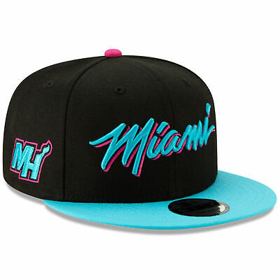 online store d6c4f 53df2 Miami Heat Vice New Era 9FIFTY NBA City Edition Snapback Cap South Beach Hat  950
