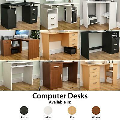 Computer Desk Laptop PC Table Shelves Drawer Office Home Study Workstation