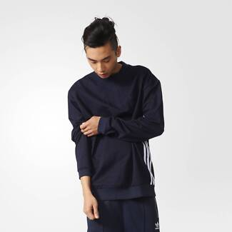 Brand New with Tag ADIDAS MEN ORIGINALS INDIGO CREW SWEATSHIRT SM
