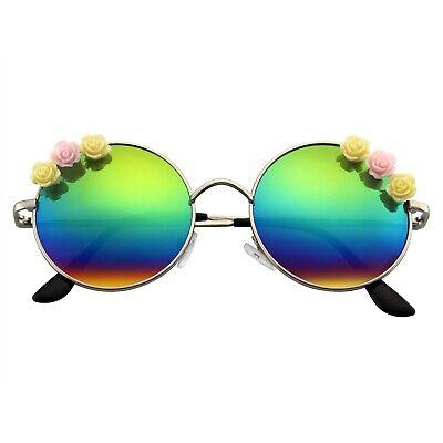 Blume Sonnenbrille Hippie Boho Festival Kreis Runde Sonnenbrille