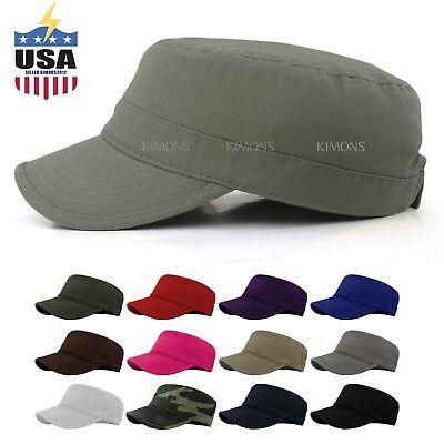 Military Hat Army Cadet Patrol Castro Cap Men Women Golf Baseball Summer Castro