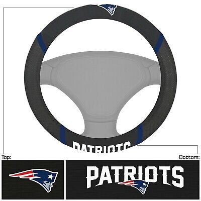 Fanmats NFL New England Patriots Embroidered Steering Wheel Cover Del. 2-4 Days
