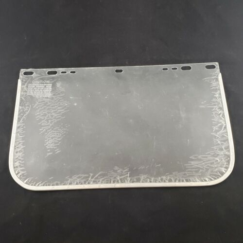 """Replacement Clear Faceshield Aluminum Bound Polycarbonate 9¼"""" x 15½"""" Unbranded"""