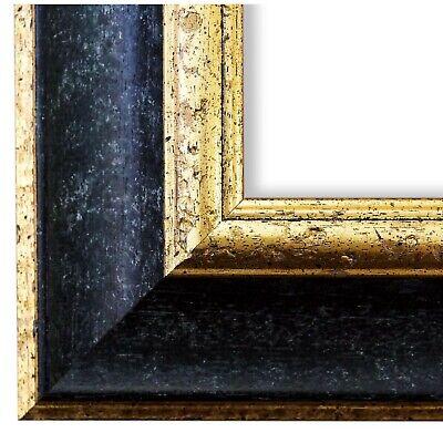 Bilderrahmen Rahmen Schwarz Gold Vintage Retro Holz Acta 6,8 - NEU alle Größen