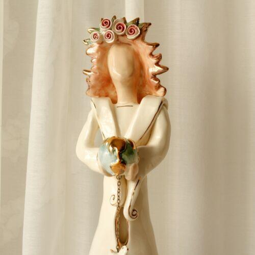Peace Angel Candleholder Blue Sky Clayworks 2001
