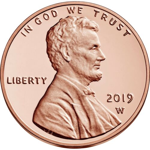 2019 W Lincoln Proof New Premium With COA Sealed Minted Cent! First W